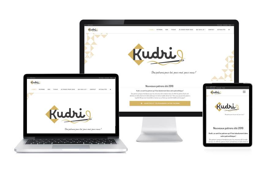 Site e-commerce avec Wordpress et Woocommerce pour Kudri, patrons de couture, réalisé par JN-Rédaction Web