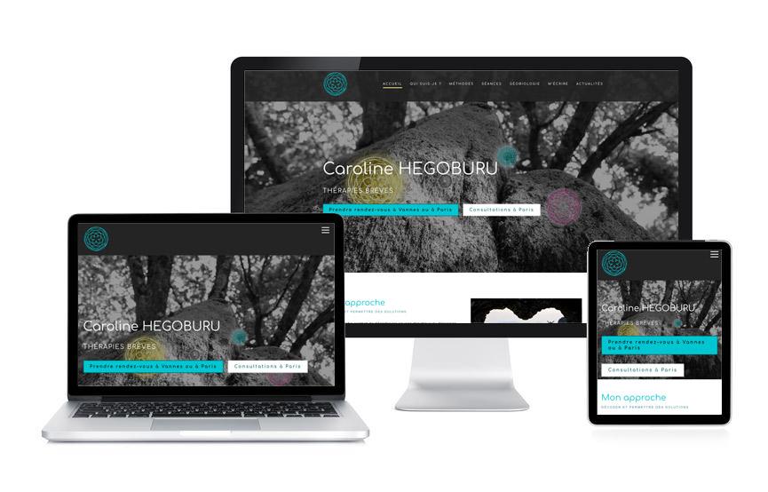 Création d'un site vitrine Wordpress pour Caroline Hegoburu, thérapeute à Vannes et Paris, par JN-Rédaction Web.