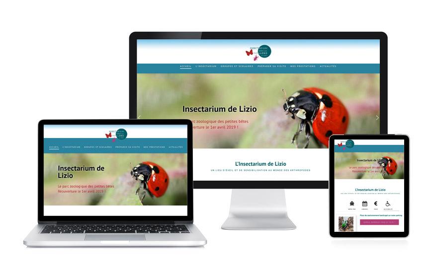 Site Wordpress de l'Insectarium de Lizio réalisé par JN-Rédaction Web
