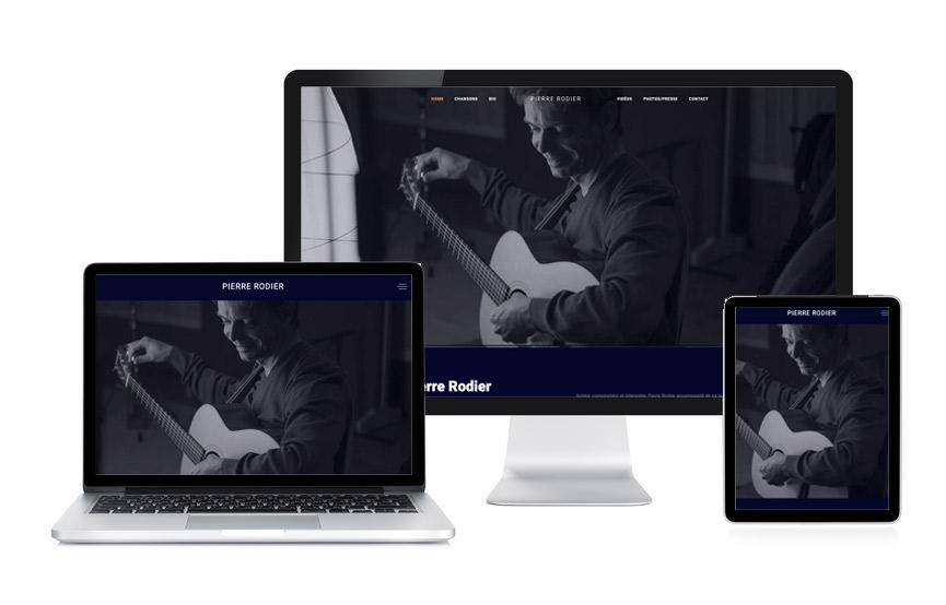Site Wordpress de Pierre Rodier, musicien réalisé par JN-Rédaction Web.