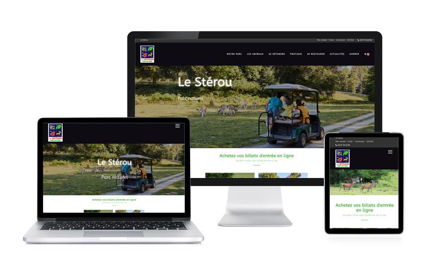 Site Wordpress et rédaction web du Stérou, parc naturel à Priziac réalisé par JN-Rédaction Web