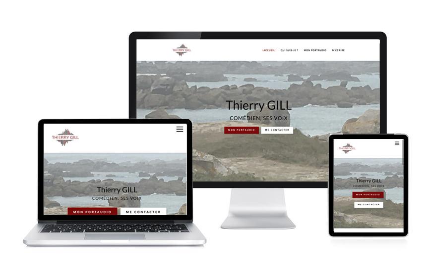 Site Wordpress de Thierry Gill, comédien, doubleur, réalisé par JN-Rédaction Web.