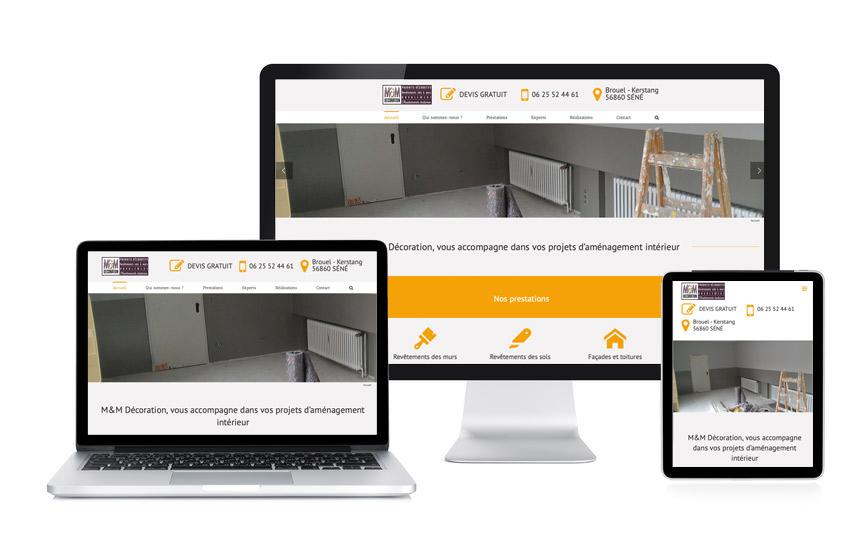 JN-Rédaction Web a écrit le contenu du site de M&M Décoration à Séné