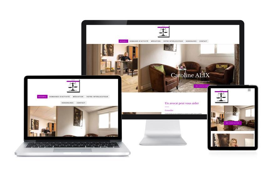 JN-Rédaction Web a réalisé le site de Caroline Alix avocat et médiateur à Vannes.