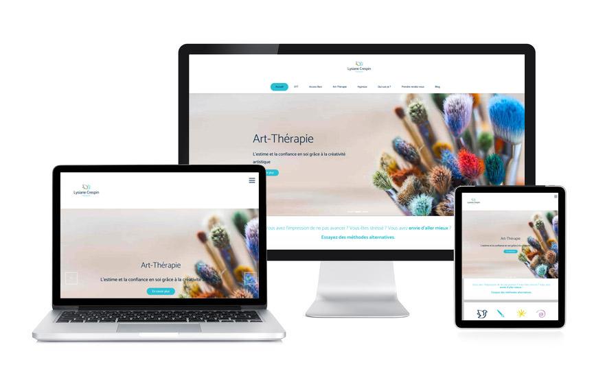 JN-Rédaction Web a écrit et réalise le site internet de Lysiane Crespin, thérapeute à Vannes.
